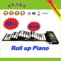 Wholesale Discount Drop shipping cheap keys roll up baby sound piano keyboard electronic organizer piano child musical toys instruments