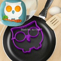 Wholesale B39 hot selling Breakfast Kitchen Silicone Owl Fried Egg Mold Pancake Mould Shaper Cooking Tool