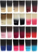 Wholesale 32 wig color gradient card receiver pills high temperature wire straight hair natural hair piece