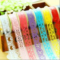 adhesive tape - Lace Washi Tape Paper Decorative Sticky Trim Paper Masking Tape Self Adhesive Stick on Shabby Chic DIY