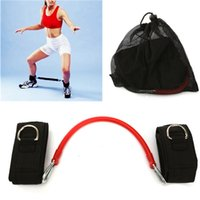 Wholesale Training Aids Red Latex Tube Legs Stretched Elastic Rope Tension Device Trainer Fitness Bands cm Long