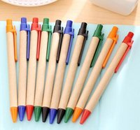 best recycled paper - 100pcs Recycled Paper Customized LOGO Ballpoint Pens Best Promotion Gifts Protect The Environment