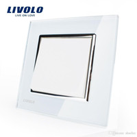 Wholesale Manufacturer Livolo Luxury white crystal glass panel Push button switch smart home VL C7K1 A5