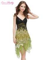 Wholesale Cocktail Dresses Ever Pretty HE00045 A line V neck Special Occasion Women Summer Style Party Dress