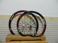 Wholesale Fast Forward red white logo FFWD F4R mm full carbon wheels carbon wheelset C road bike full carbon fiber bicycle wheels