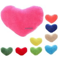 Wholesale 9 Color Heart Shaped Pillow Soft Plush Home Decoration Cushions Cushion Cover Pillows case Love House
