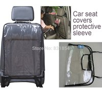 Wholesale Transparent Car Seat Back Protector dust proof Children Kick Mat Protects from Mud Dirt waterproof Universal car seat covers