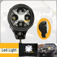 lens for cree led - 60W Cree quot Round Car LED Driving Light Lamp Beam PC Lens Universal Pedestal Mount Fit For Jeep Wrangler Off road Auto Truck Vehicle