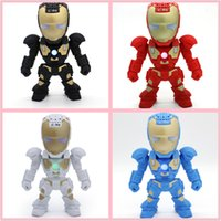 best portable multimedia player - Robot Style C Bluetooth Wireless Iron Man Speaker Support TF card Portable Multimedia Speaker Mini USB speaker MP3 best birthday gift