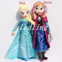 Wholesale 2015 Frozen cm Princess Elsa Plush Anna Plush Toy Doll Brinquedos Kids Dolls Olaf Milu Sven Kristoff Moive Toys Dolls