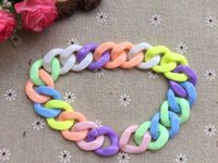 Wholesale Detachable High quality Mixed colors Plastic Chain Links x29mm Buckling chain link Can pick the color