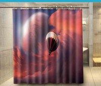balloon shower curtain - Home Bathroom Docors Hot Air Balloon Red Cloud Shower Curtain cm Waterproof Polyester Bath Curtain cortina de bano