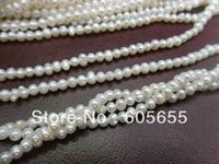 Cheap High Quality 2mm White Fresh Water Pearl Seed Round Beads for DIY Jewelry 5 strands per Lot Free Shipping