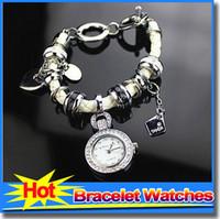 battery pandora - Latest Design High Quality Silver Alloy European Beads Women Wristwatch Fit Pandora Charms Bracelet For Ladies