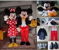 Promociones especiales de alta calidad Mickey Minnie mouse traje de la mascota del envío traje del partido de todo el mundo