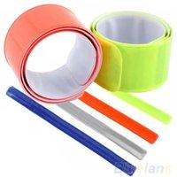 Wholesale 4Pcs Pack Bike Bicycle Reflective Safety Pant Band Leg Strap Belt Sports CO1