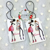 Wholesale in stock fashion Lady dress art paper color printing hang tag normal clothing hat jewelry tag without string