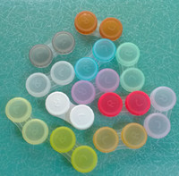 Contact Lens Storage Set contact lens case - Contact Lens Case lovely Colorful Dual Box Double Case Lens Soaking Case colored contact lenses DHL Free pairs