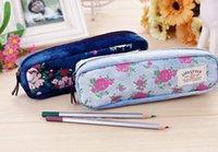 pencil holder - 2015 Floral Pencil bag lovely pencil bag Pen holder kids gift Cosmetic Bag Pouch