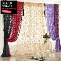 Wholesale Fashion Cheap Curtain Butterfly Pattern Tassel String Door Curtain Window Room Curtain Divider Valance cm Fast Shipping