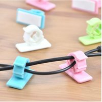 Wholesale 4pcs Plastic Flexible Cable Wire Line Cord Organizer Holder Keys Combs Hanger Novelty Home Multifunctional Sticky Holders Clips