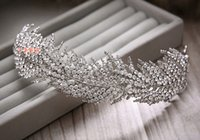 Wholesale Bride crown hair diamond wedding tiara crown princess dress accessories