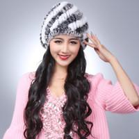 plastic toe cap - Season autumn and winter rex rabbit hair fur hat stripe toe cap covering cap winter thermal quinquagenarian female hat