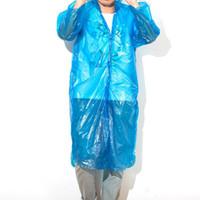Wholesale 2015 wholesael One time Raincoat Disposable PE Raincoats Poncho Rainwear Travel Rain Coat Rain Wear Travel Rain Coat pieces
