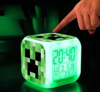 minecraft - Minecraft Alarm Clock Touch Colorful Changing Diamond Sword Frozen Alarm Clock LED Colors Change Digital Alarm Clock Night Light MT0045