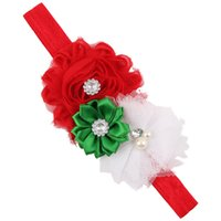 Wholesale Christmas gift Baby flower solid color children infant baby hair hairband accessories headband Christmas gift w