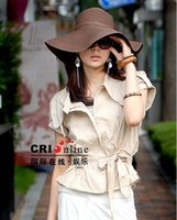 Wholesale Woman Sun hats for Summer Wide Brim Hats Beach Hat Sun Protection Dome Shaped Brim Hats