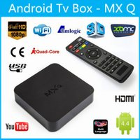 Wholesale Latest MXQ TV BOX MX Amlogic S805 Quad Core IPTV Android TV box Kitkat K GB GB XBMC fully Loaded WIFI Airplay Miracast