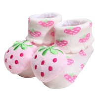1 Paire Baby Anti Slip 0-6Month Nouveau Coton Chaussures Lovely Cute Chaussons Cartoon Cartoon Chaussures Bottes Boy Girl Unisex Skid Socks