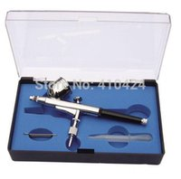 Wholesale HD mm Dual Action Airbrush Spray Paint Spray Gun cc For Artwork Nail art Design painting order lt no track