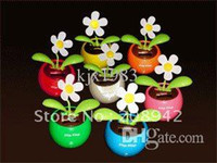 best gifts automotive - Best selling Lovely solar apple flower swing automotive supplies car accessories ornaments toy gift