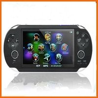 Wholesale free quot TFT Screen GB Handheld Game mp5 Player mp4 Player With Dual Joystick Camera FM TV Out Portable Game Console