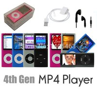 Wholesale NEW G GB Slim in LCD th Gen Mp4 Media Player FM Radio Video Games Movie Colors for choice