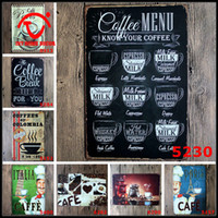 metal wall art decor - Coffee Metal Signs CAFE BAR Kitchen TIN SIGN Wall Metal Painting Vintage Retro Poster Shabby Chic Plaque Home Decor Art Wall Decoration