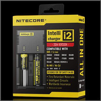 Wholesale Genuine Nitecore I2 Universal Charger for Battery E Cigarette in Muliti Function Intellicharger free DHL ship
