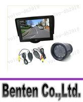 """Car Camera   LLFA7466 Wireless IR Night Vision Reverse Backup Camera + 4.3"""" TFT LCD SCREEN Monitor Car Rear View Kit"""