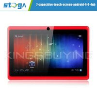 Wholesale 7 quot Capacitive Touch Screen Android GB Tablet PC with Wifi Red retail