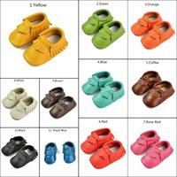 Wholesale Infant baby moccasins soft leather fringe baby booties toddler shoes baby kids Antiskid first walker shoes leather shoe J102105