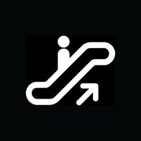 automatic door sticker - Car Stickers Escalator Symbol Sticker Icon Vinyl For Car Rear Windshield Decal Business Elevator Stairs Automatic Fun