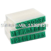 alphabet bookmarks - cm Wide Plastic Rubber Combination Alphabet Stamp Off White Green