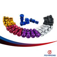 al por mayor ruedas volk-PQY Racing-4 RAYOS competir con de Volk aluminio forjado tapones de las válvulas de STEM Ruedas llantas UNIVERSAL Azul Negro Plata Oro Negro Rojo PQY-WR11