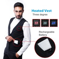 battery heated clothing - Fall outdoor Men s Clothing Fashion heat vest Male Men s Cordless Volt Battery Powered Heated Vest Jacket Waistcoat Suit Vest