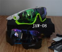 bicycle green plastic - New Polaroid Sunglasses Eyewear Lenses Polarized Driving Sunglasses Sport Goggle JAW Bicycle Glasses Tour De France Eyewear