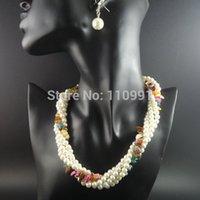 achat en gros de gros bijoux en pierre chunky-Vente en gros-naturel de la pierre Nouveau Unique Big Bib Neon Chunky Choker ethnique à la main des bijoux en chaîne fait des colliers de perles pour les femmes