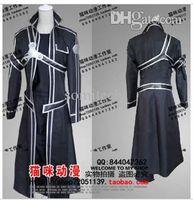 al por mayor xs ropa en línea--Kirito mayorista anime japonés figura Sword Art Online sexy traje de cosplay para el hombre kid conjunto de ropa de carnaval