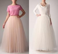 Wholesale Hot Underskirt Long Bridesmaid Party Dresses Petticoat Fancy Net Skirt Rockabilly Tutu Petticoats Online Skirts